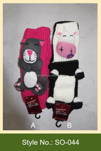 fanny mouse hand crochet knitted knitted slipper socks indoor