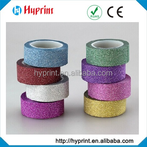 Wholesale waterproof decorative glitter tape for gift packing