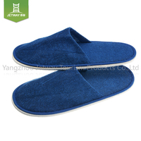 High quality terry towel cloth bath disposable hotel slippers with EVA sole disposable slipper hotel terry slipper