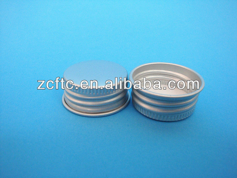 24mm Siver color aluminum screw beer bottle caps, aluminum wine bottle screw cap