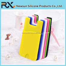 Protective Silicone Phone Smart Wallet / Silicone Card Holder for iPhone 5