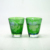 2018 Popular 90ml Wholesale Green Flower Colored Engraved Glass Tumbler Tea Cup