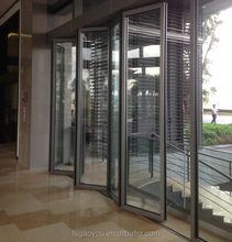 Meeting room sliding wall partitions aluminum frame frosted glass sliding glass door