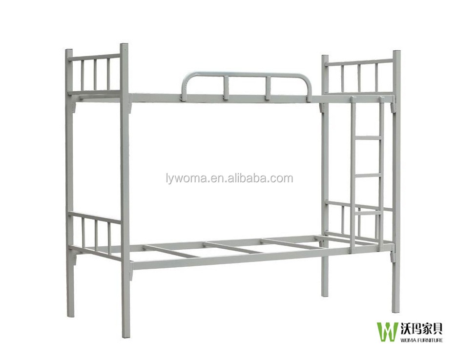 College dormitory furniture steel double decker metal bed for Cheap double bed frames under 50