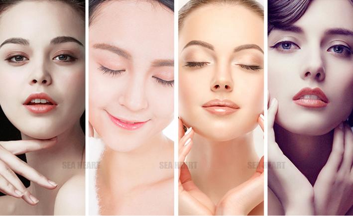 7 cores fóton EMS + RF + LED rádio freqüência endurecimento da pele/remoção do enrugamento facial máquina para uso doméstico
