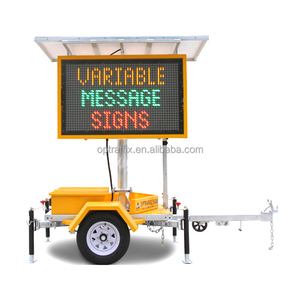 Outdoor Mobile Trailers Dynamic VMS Solar Powered Portable Variable Message Signs