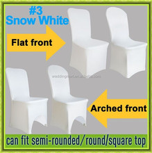 2016 hot sale white chair cover spandex for wedding
