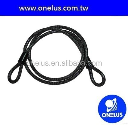 working with u lock material steel bicycle cable lock