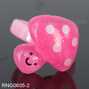 Pink Mushroom Design Kids Finger Rings Jewelry Rings