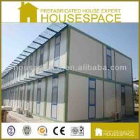 low cost economic flat roof light steel prefab house