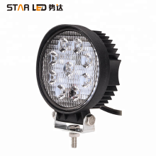 Factory wholesale 27w LED working lamp round 12v motorcycle led driving lights 4x4 car led work light for truck
