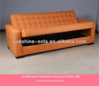 Living Room Functional Leather Futon Sofa/ PU Sofa Bed With Storage