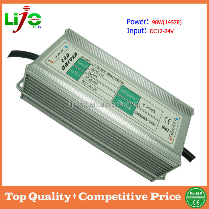 2100ma constant current 98W led power driver