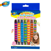 Arts And Crafts Multi Color Crayon Washable Rainbow Wax Crayon For Preschool Kids