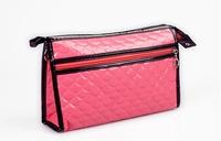 Promotional fushia cosmetic bag-Shinning PU cosmetic bag, your personal make up bag