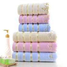 High Quality Preminum Cotton Colourful Embroidery Bath Towel