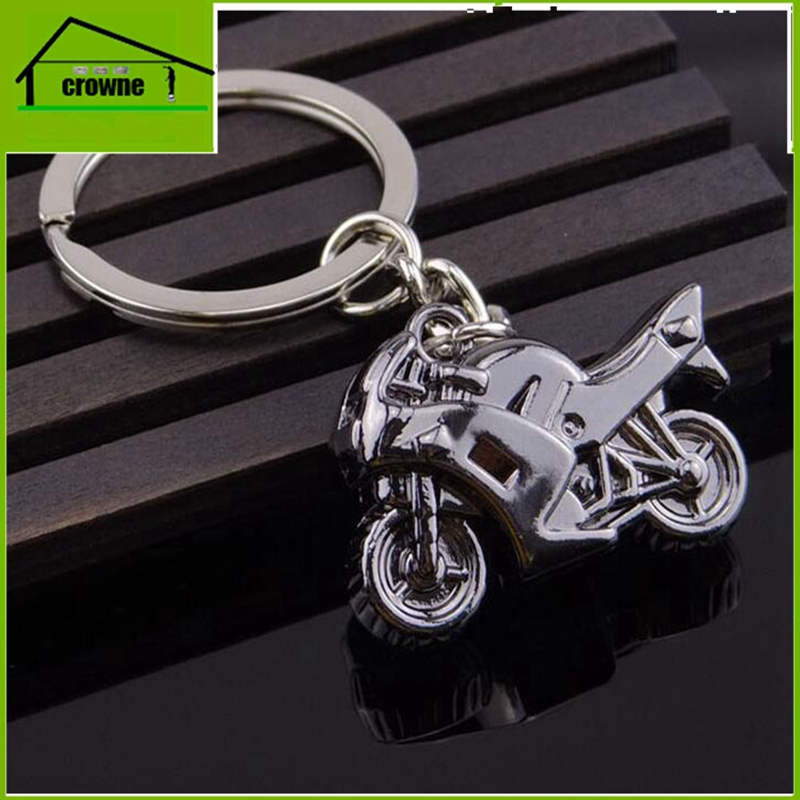 wholesale promotional gift custom printed logo 3D motorcycle keychain