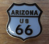 ARIZONA US 66 Tie Hat Cap Lapel Pin Badge Route 66 Shield