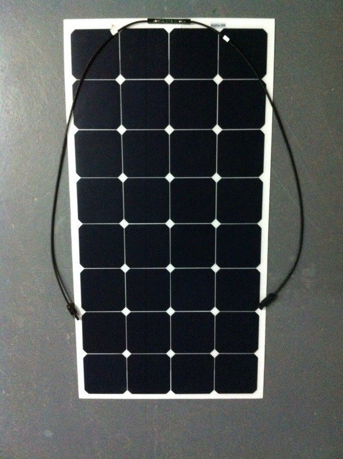 Manufacturer new designed 22% high efficiency 100W semi flexible solar panel sunpower solar cell cutting