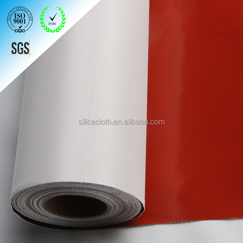 High temperature, chemical and abrasion resistant silicone impregnated fiberglass cloth