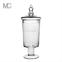 Wholesale Handmade Wide Mouth Clear Glass Food Storage Jar With Lid