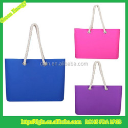 Fashionable waterproof silicone beach tote bag for women