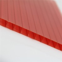 Clear two-wall polycarbonate hollow sheet sun sheet skylight roofing