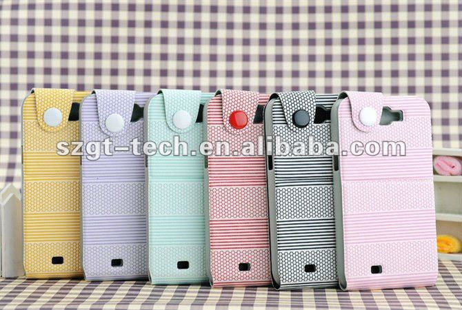 For samsung galaxy Note2 N7100 leather case, many colors avaiable