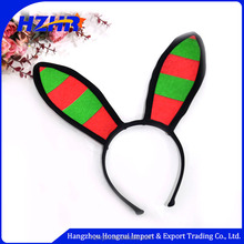 Christmas red green headband high quality lovely rabbit elf ear headband Christmas kids animal ears headband