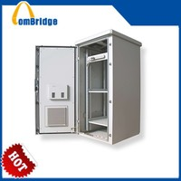 waterproof electric equipment White Metal Outdoor Telecom Cabinets