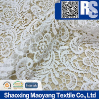 2016 hot arrivals embroidery lace cord fabrics high quality guipure lace fabrics French