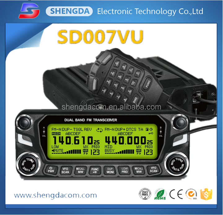 Trade Assurance best choise transceiver /Vehicle mounted 3 bands mobile radio for car with 20-50km range Military used