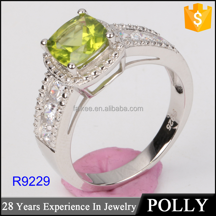 Attractive sapphire 925 silver wedding ring