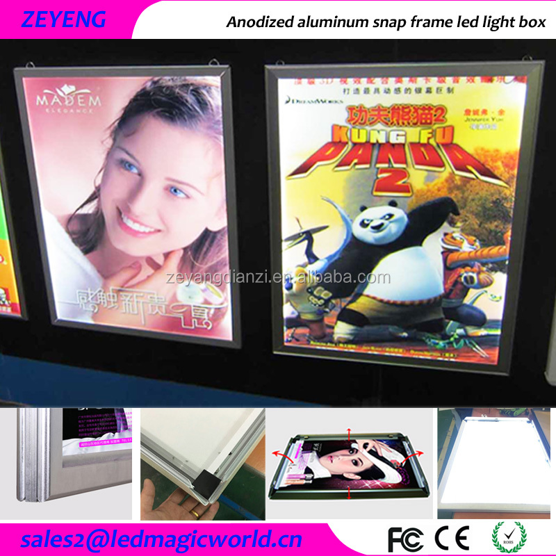 High Bright <strong>led</strong> illuminated Movie Poster Wall Mounted Advertising <strong>Display</strong>