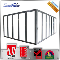 Brisbane Region Supplier of Large Opening Glass Folding Door/aluminium bi folding door/folding stacking door