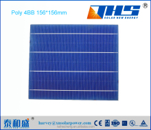 high efficiency Taiwan A grade photovoltaic Poly solar cell 156.75*156.75mm 4BB for sale