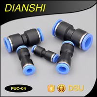 Right Pneumatics Quick plumbing Connector PUC Series Direct Connection plastic pipe fitting