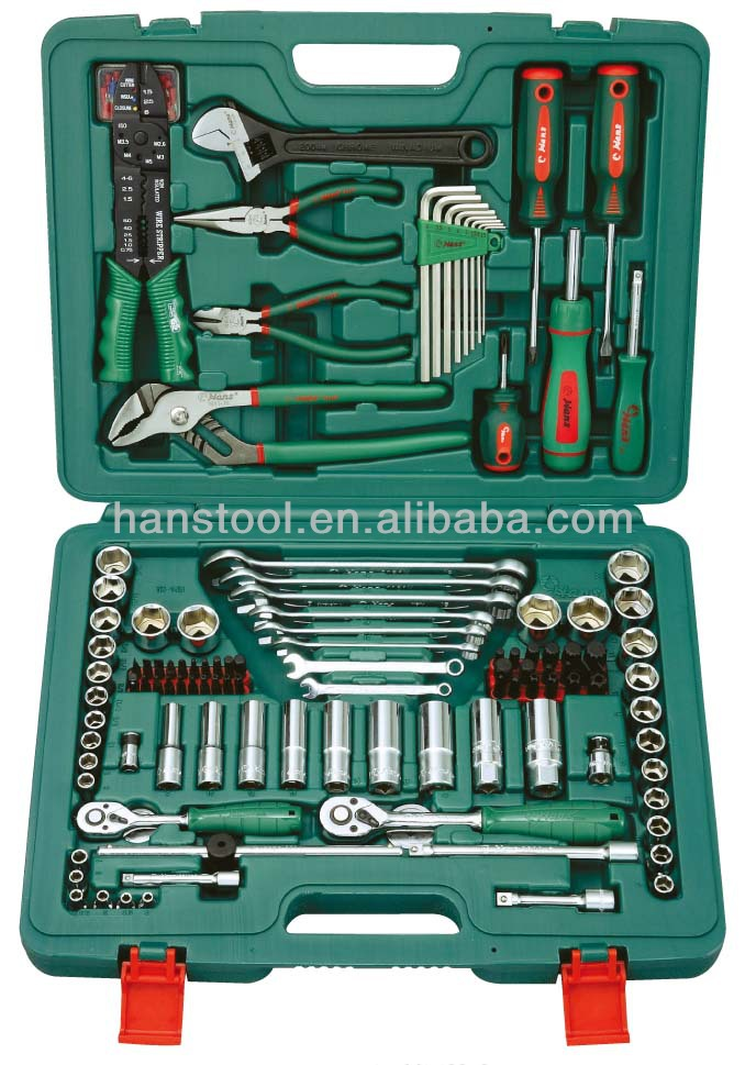 "HANS tool/ Economic workshop tools set/ Professional users/ worldwide brand/ Taiwan/ TK-148 universal TOOL KIT 1/4"", 3/8""DR."