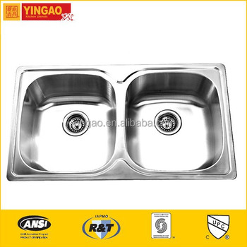 605 Factory price stainless steel apron front sink
