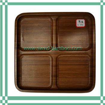 bamboo divided lunch bento box buy bento lunch box with dividers recyclable bento boxes custom. Black Bedroom Furniture Sets. Home Design Ideas