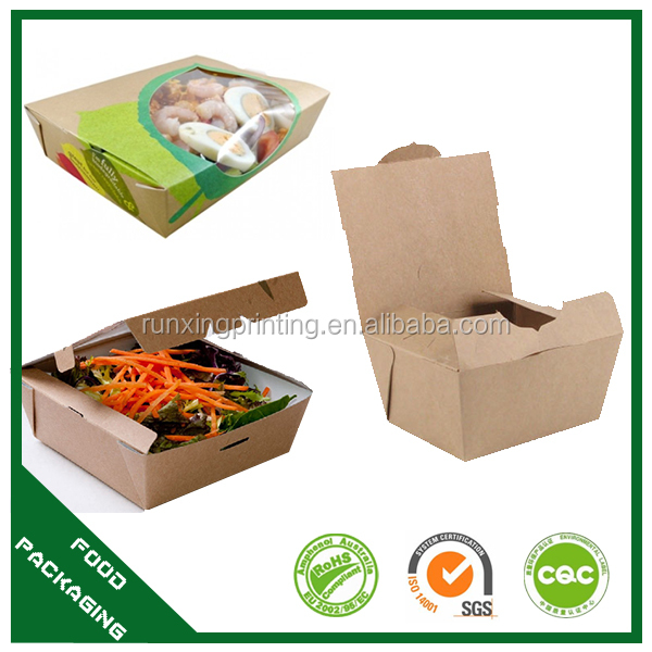 duplex board fast food packaging take away disposable box
