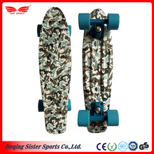 Customized design special pattern printed plastic longboard skateboard