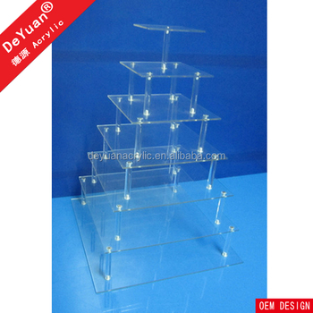 Plastic Tiered Cake Stand Wholesale OEM Design