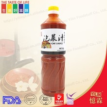 BRC certificated 1L PET bottle packed Japanese style oriental sauce kimchi with low price