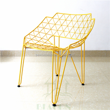 wire dining chair,restaurant chair with pu cushion