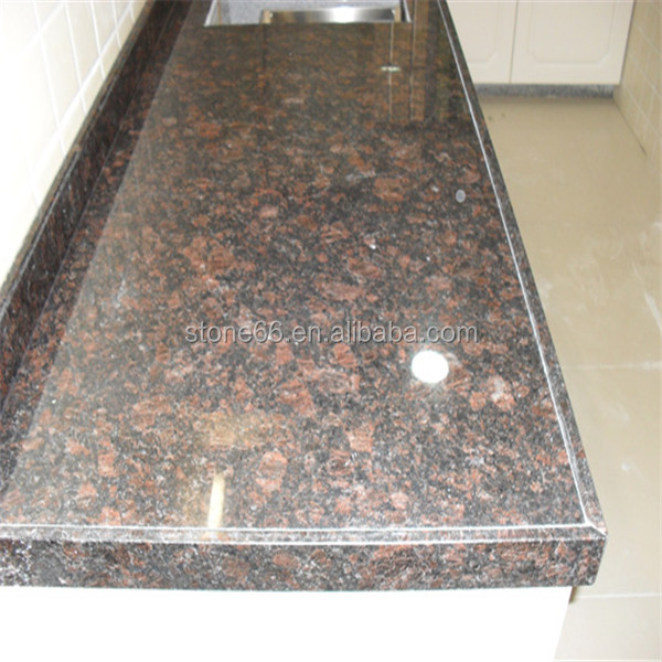 Tan Brown granite in polished honed flamed leather finished antique