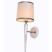 Modern wall lamp for living room chrome+piano lacquer modern crystal sconces