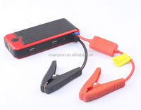 High quality Mini 12000 mAh Emergency Red black Car Jump Starter Power Bank with SOS Flashlight