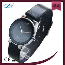black leather strap alloy men watches of simple style vogue in Western