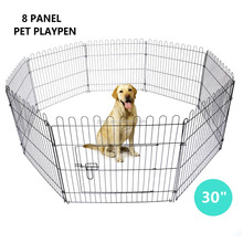 NEW DOG PET EXERCISE PLAY PEN PORTABLE PLAYPEN PET CRATE CAGE 8 PANEL